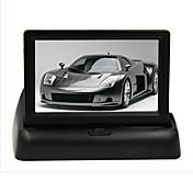 """4.3 """"LCD pliegue monitor de vista trasera del coche DVD TV pantalla para DVD estacionamiento de la cámara de sensor"""