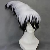 Syntetiske parykker Bølget Asymmetrisk frisyre Lagvis frisyre Med lugg tetthet Lokkløs Dame Cosplay-parykk Kort Syntetisk hår