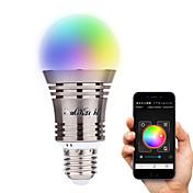 YouOKLight 6.5W 500-550 lm E26/E27 Smart LED-lampe A60(A19) 8 leds Høyeffekts-LED Bluetooth Dekorativ Varm hvit Kjølig hvit Naturlig hvit