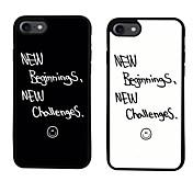 Para Diseños Funda Cubierta Trasera Funda Palabra / Frase Suave TPU para Apple iPhone 7 Plus iPhone 7 iPhone 6s Plus/6 Plus iPhone 6s/6