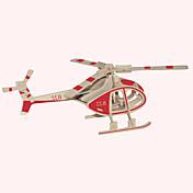 Puzzles de Madera Aeronave Edificio Famoso Arquitectura China Helicóptero Casa Nivel profesional Madera 1pcs Helicóptero Niños Chica Chico