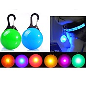 Kat Hund LED-reflekser LED Lys batterier følger med Ensfarget Plast Rød Grønn Blå Rosa Gjennomsiktig