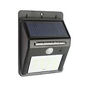 (12) 야외 태양 전원 무선 방수 보안 모션 센서 조명 야간 조명을 주도