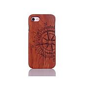 Funda Para Apple Funda iPhone 5 iPhone 6 iPhone 7 Antigolpes Diseños En Relieve Funda Trasera Palabra / Frase Dura De madera para iPhone