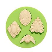Herramientas para hornear Silicona Ecológica / Antiadherente / Vacaciones Pastel / Galleta / Cupcake Herramienta de decoración