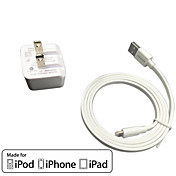 ul cargo pared recorrido certificado 1a / 2.1a doble salida + IMF manzana cable falt rayo certificado para el iphone 6 ipad iPod