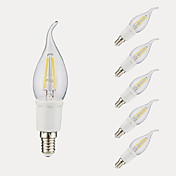 GMY® 6pcs 3W 380/300 lm E12 Bombillas de Filamento LED B 4 leds COB Blanco Cálido Blanco Fresco AC 110-130 V