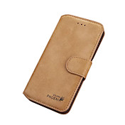 Etui Til iPhone 7 Plus iPhone 7 Apple Kortholder Lommebok Flipp Heldekkende etui Helfarge Hard PU Leather til iPhone 7 Plus iPhone 7