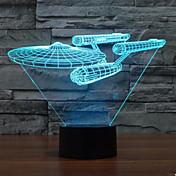 3 차원 빛 스타 트렉 전함 화려한 터치 주도의 비전 램프