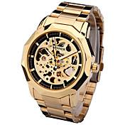 Hombre El reloj mecánico Reloj de Pulsera Reloj de Vestir Reloj de Moda Reloj Deportivo Cuerda Automática Cuero Auténtico Banda Encanto