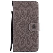Etui Til Apple iPhone X iPhone 8 Kortholder Lommebok med stativ Flipp Mønster Inngravert Heldekkende etui Mandala Hard PU Leather til