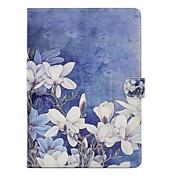 Funda Para Apple iPad 4/3/2 iPad Air 2 iPad Air con Soporte Diseños Funda de Cuerpo Entero Flor Dura Cuero de PU para iPad 4/3/2 iPad Air