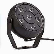 u'king® 9w 6LED rgb 3 en 1 de plástico etapa efecto par 1pcs de control de luz automático / voz