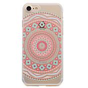 Para iPhone X iPhone 8 Carcasa Funda Transparente Diseños Cubierta Trasera Funda Mandala Suave TPU para Apple iPhone X iPhone 8 Plus