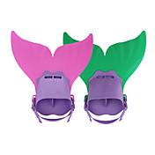스노쿨링 패키지 다이빙 지느러미 다이빙 패키지 교육 장비 수영 핀 조절 가능한 핏 짧은 오리발 인어 다이빙 & 스노쿨링 수영 PP TPR 용