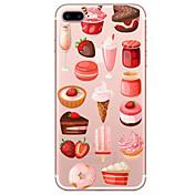 Etui Til Apple iPhone 7 Plus iPhone 7 Gjennomsiktig Mønster Bakdeksel Mat Myk TPU til iPhone 7 Plus iPhone 7 iPhone 6s Plus iPhone 6s