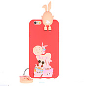 용 패턴 케이스 뒷면 커버 케이스 3D카툰 캐릭터 소프트 TPU 용 Apple 아이폰 7 플러스 아이폰 (7) iPhone 6s Plus iPhone 6 Plus iPhone 6s 아이폰 6