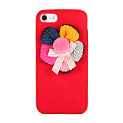 Para Manualidades Funda Cubierta Trasera Funda Flor Suave Textil para AppleiPhone 7 Plus iPhone 7 iPhone 6s Plus iPhone 6 Plus iPhone 6s