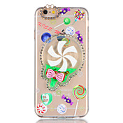 Funda Para Apple iPhone 7 Plus iPhone 7 Diamantes Sintéticos Líquido Manualidades Funda Trasera Brillante Dibujo 3D Suave TPU para iPhone