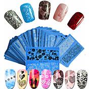 48pcs/set Calcomanías de uñas / Accesorio de herramienta de bricolaje para uñas Etiqueta de transferencia de agua / Pegatina de uñas Nail