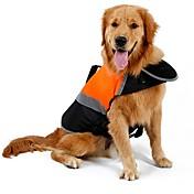 Gato Perro Impermeable Chaleco Chaleco salvavidas Ropa para Perro Un Color Naranja Verde Algodón Terileno Disfraz Para mascotas Hombre