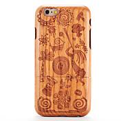 Etui Til iPhone-6s iPhone 6 Apple Mønster Inngravert Bakdeksel Trefiber Tegneserie Hard Tre til iPhone 6s iPhone 6