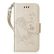 Etui Til Samsung A5(2017) A3(2017) Kortholder Lommebok med stativ Flipp Mønster Heldekkende etui Hjerte Hard PU Leather til A3 (2017) A5