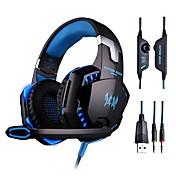 Over øre Pannebånd Med ledning Hodetelefoner Plast Gaming øretelefon HIFI Med volumkontroll Med mikrofon Selvlysende Headset