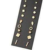 여성용 스터드 귀걸이 유니크 디자인 기하학적 의상 보석 합금 보석류 제품 파티 일상 캐쥬얼