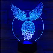 El águila esquelética del color del tacto 7pc llevó la lámpara de acrílico del gradiente colorido estéreo de la visión de color del color