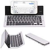 휴대 전화 태블릿 pc에 대 한 f18 휴대용 울트라 얇은 접이식 알루미늄 합금 블루투스 3.0 무선 키보드