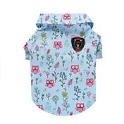 Kat Hund Trøye/T-skjorte Vest Hundeklær Dyr Blå Bomull Kostume For kjæledyr Herre Dame Søtt Fritid/hverdag Mote