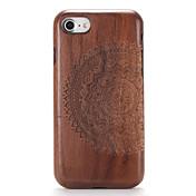Etui Til Apple iPhone 7 Plus iPhone 7 Mønster Inngravert Bakdeksel Trefiber Mandala Hard Tre til iPhone 7 Plus iPhone 7 iPhone 6s Plus