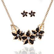 Mujer Conjunto de joyas 1 Collar 1 Par de Pendientes - Floral Flor Básico Flores Flor Juego de Joyas Para Fiesta Ocasión especial Casual