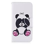 Etui Til Samsung Galaxy A5(2017) / A3(2017) Lommebok / Kortholder / med stativ Heldekkende etui Panda Hard PU Leather til A3 (2017) / A5 (2017) / A5(2016)