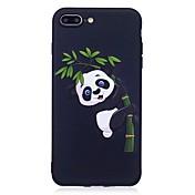 Etui Til Apple iPhone 7 Plus iPhone 7 Mønster Inngravert Bakdeksel Panda Dyr Myk TPU til iPhone 7 Plus iPhone 7 iPhone 6s Plus iPhone 6s