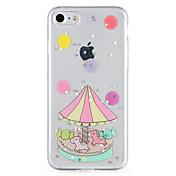제품 케이스 커버 패턴 뒷면 커버 케이스 카툰 글리터 샤인 소프트 TPU 용 Apple 아이폰 7 플러스 아이폰 (7) iPhone 6s Plus iPhone 6 Plus iPhone 6s 아이폰 6