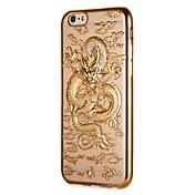 Funda Para Apple iPhone 7 Plus iPhone 7 Cromado Diseños Funda Trasera Animal Suave TPU para iPhone 7 Plus iPhone 7 iPhone 6s Plus iPhone