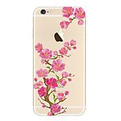 Funda Para iPhone 5 Apple Transparente Diseños Funda Trasera Flor Suave TPU para iPhone SE/5s iPhone 5