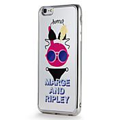 Para la manzana iphone7 7 más la cubierta de cubierta del caso patrón del espejo patrón de la historieta de la caja de la contraportada