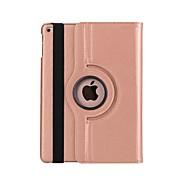 Funda Para Apple con Soporte / Activado / Apagado Automático / Rotación 360º Funda de Cuerpo Entero Un Color Dura Cuero de PU para iPad