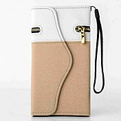 Etui Til iPhone 5 Apple Kortholder Lommebok med stativ Flipp Heldekkende etui Helfarge Hard PU Leather til iPhone SE/5s iPhone 5