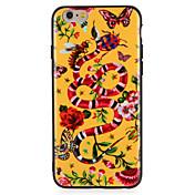 Caso para la manzana iphone7 7 más patrón animal de la mariposa de la flor PC dura para el iphone 6s más 6 más 6s 6
