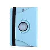 For case cover med stativ 360 rotasjon full kroppsveske solid farge hard pu lær for samsung tab s3 9,7 t825 / t820