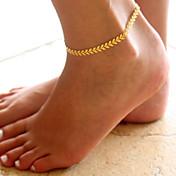 Brazalete tobillo - Forma de Hoja Moda Dorado / Plata Para Diario / Casual / Mujer