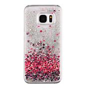 Etui Til Samsung Galaxy S8 Plus S8 Flommende væske Gjennomsiktig Mønster Bakdeksel Hjerte Glimtende Glitter Hard PC til S8 Plus S8 S7