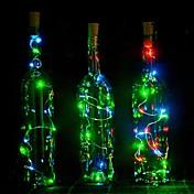 1 개 2m 20 주도 코르크 모양의 밤 별이 빛나는 구리 철사 마개 와인 병 램프 장식 시원한 따뜻한 흰색 화려한