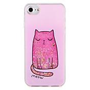 Etui Til Apple iPhone 7 Plus iPhone 7 Mønster Bakdeksel Katt Glimtende Glitter Hard PC til iPhone 7 Plus iPhone 7 iPhone 6s Plus iPhone