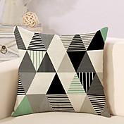 1 PC Algodón/Lino Funda de almohada Cobertor de Cojín, Diseño Geométrico Moda Novedad Geométrico Vintage Casual Europeo Neoclasicismo