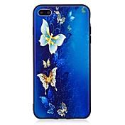 Para el iphone 7 más 6 más 6s se 5s 5 cubierta del caso patrón de mariposa relieve contraportada suave tpu